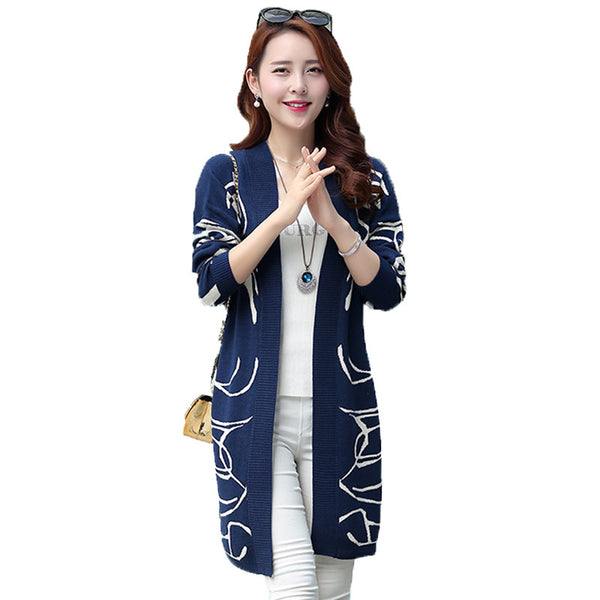 Knitted Long Sweater Cardigan Thick Chick Treasures