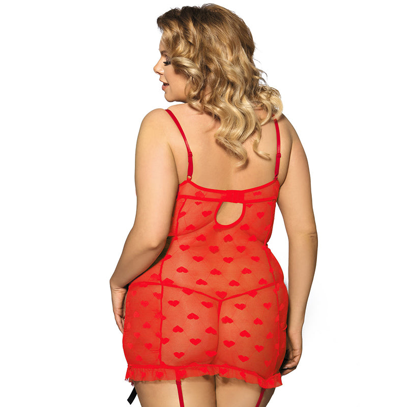 1da52a7f6d Plus size Lace Red Babydoll with Bow Lingerie – Thick Chick Treasures