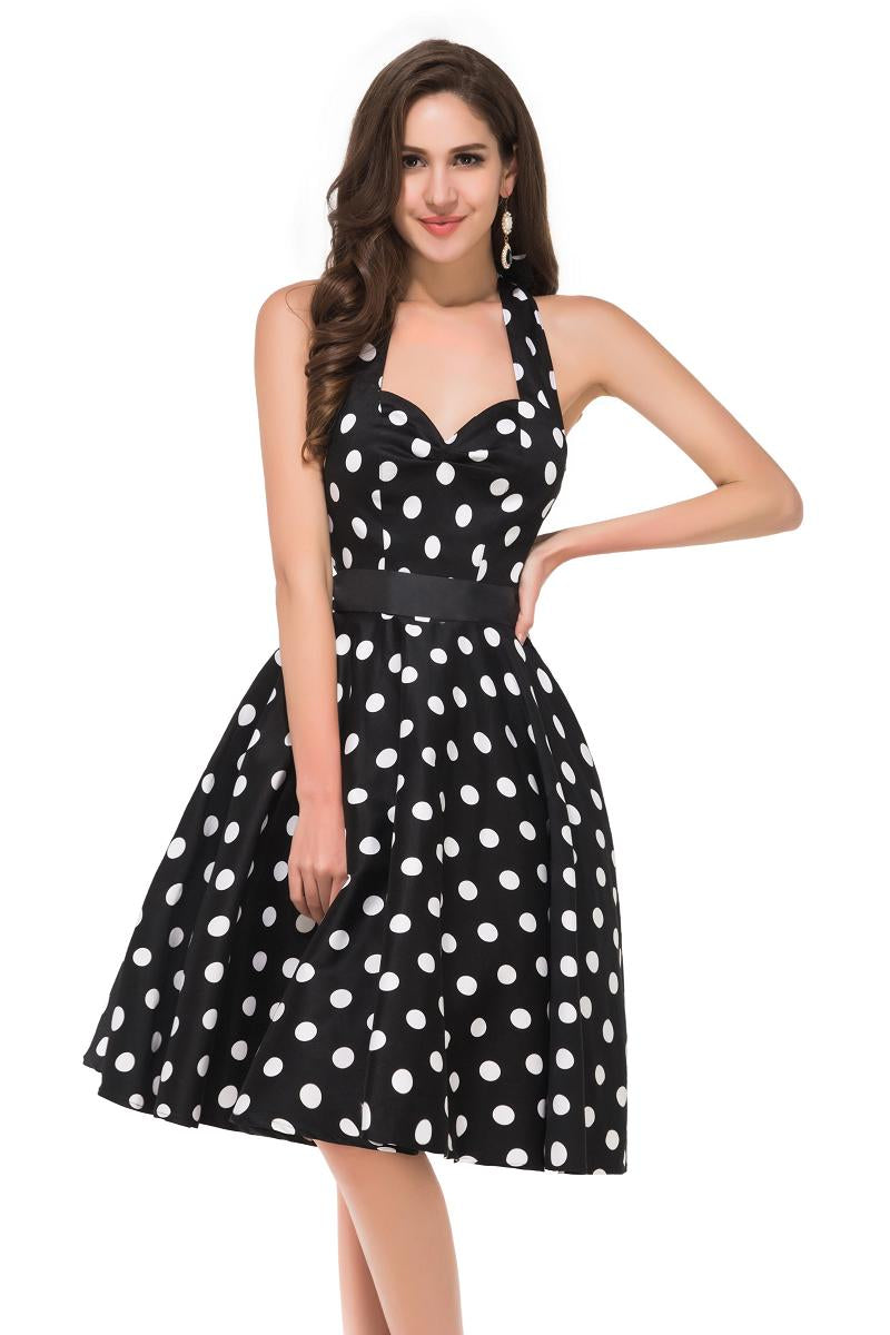 2dfe0788696 Women Vintage 50s Summer Big Swing Dress Plus Size Clothing 2017 Robe Retro  Casual Party Vestidos