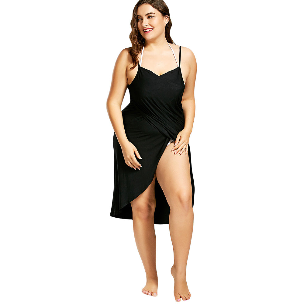 58726c9f3d3 Beach Cover Up Wrap Dress – Thick Chick Treasures