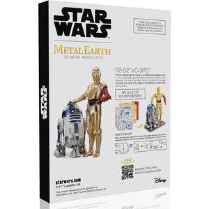 Metal Earth - R2-D2 & C-3PO Gift Boxed Laser Cut Model