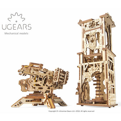 UGears Archballista Tower mechanical model kit