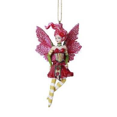 Pointsettia Fairy Hanging Ornament by Amy Brown