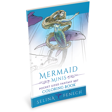 Mermaid Minis Colouring Book by Selina Fenech