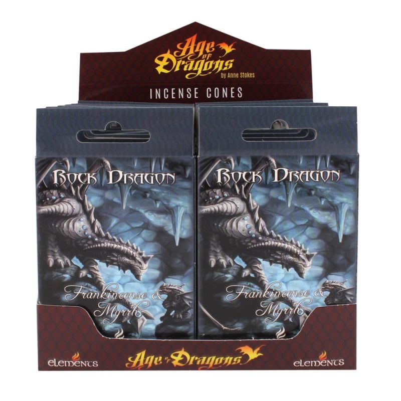 Rock Dragon Incense Cones by Anne Stokes