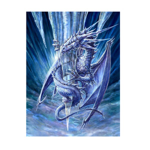 Ice Dragon - 3D Lenticular Print by Anne Stokes
