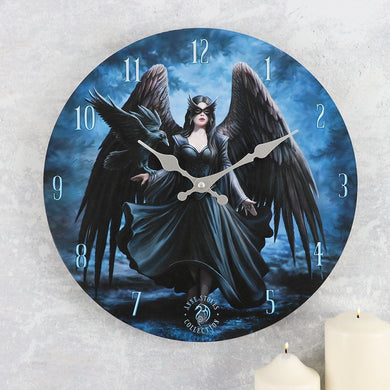 Raven Clock by Anne Stokes