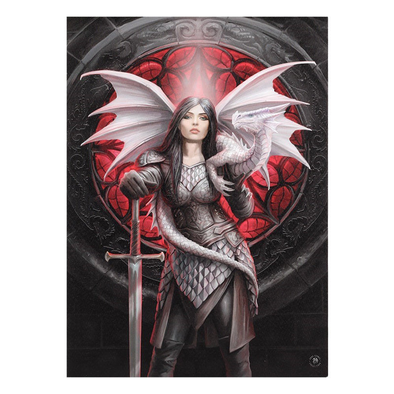 Valour XLarge Canvas by Anne Stokes