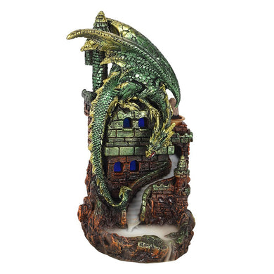 Dragon Castle Glowing Backflow Incense Burner