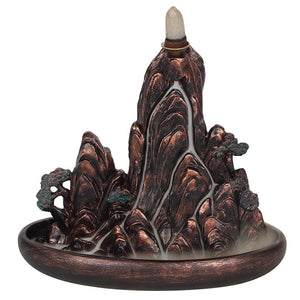 Bronze Effect Island Backflow Incense Burner