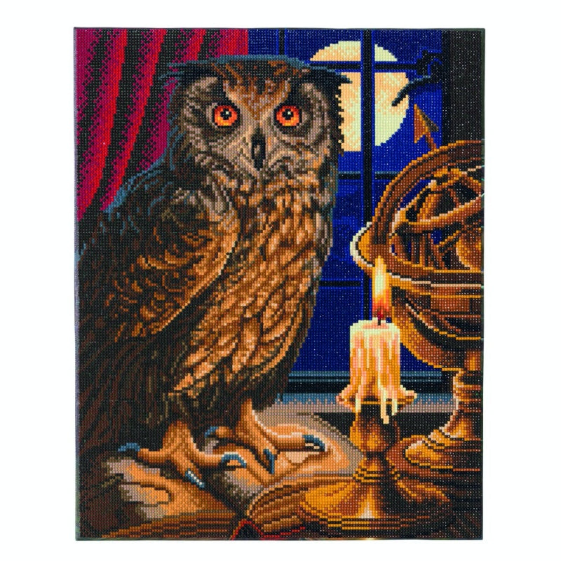 The Astrologer Owl Crystal Art Kit by Lisa Parker