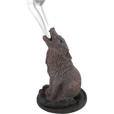 Wolf Incense Cone Burner by Lisa Parker