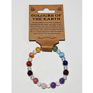 Colours of the Earth Bracelet with Clear Quartz