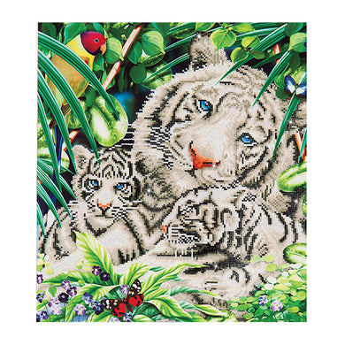 DIAMOND DOTZ - White Tiger and Cubs
