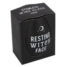 Resting Witch Face Stemless Wine Glass