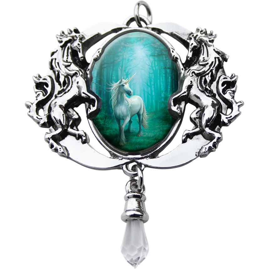 Forest Unicorn Cameo Pendant by Anne Stokes