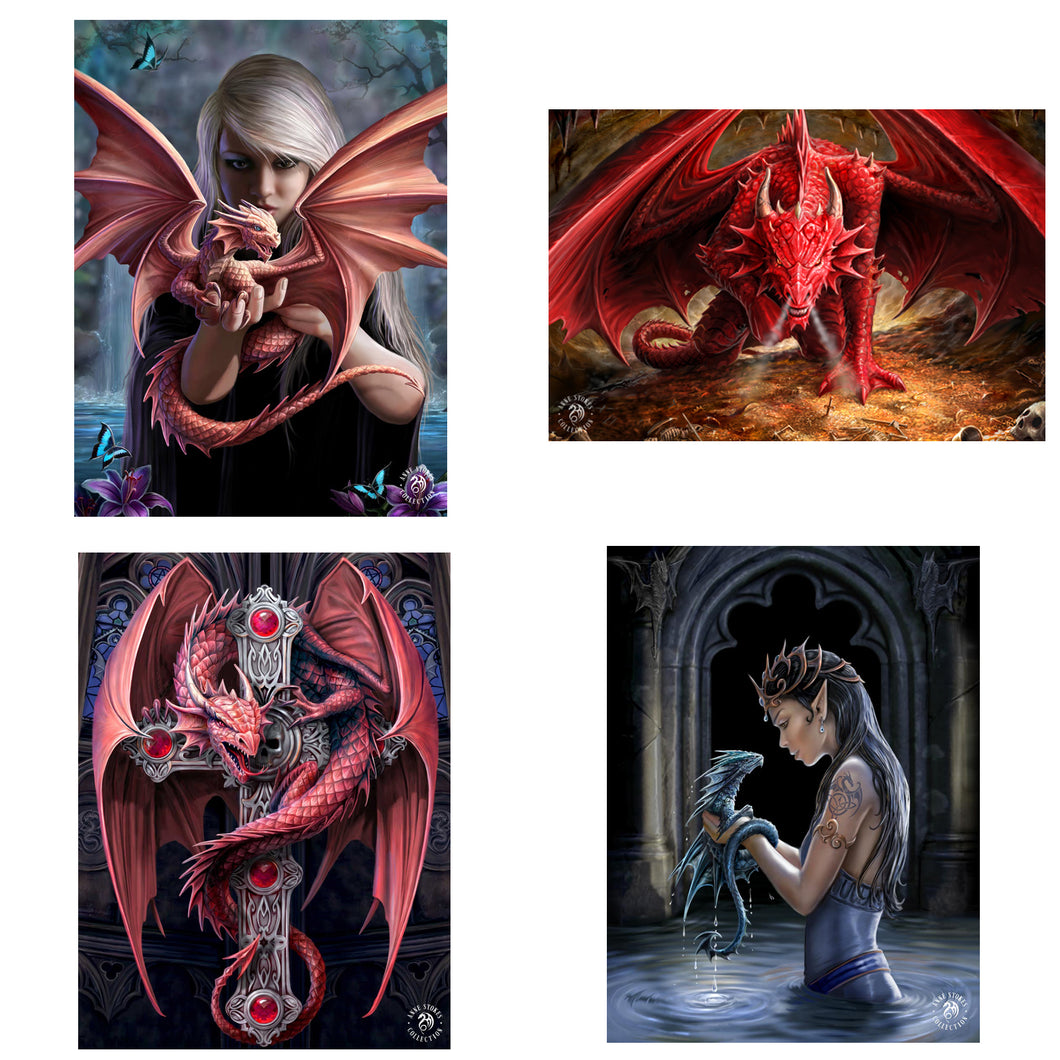 3D Postcard Pack 12 by Anne Stokes
