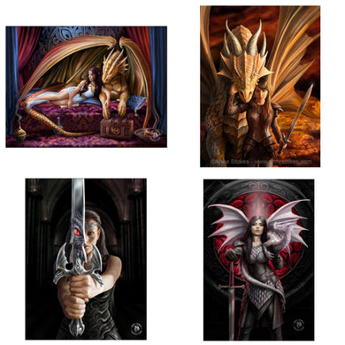 3D Postcard Pack 16 by Anne Stokes