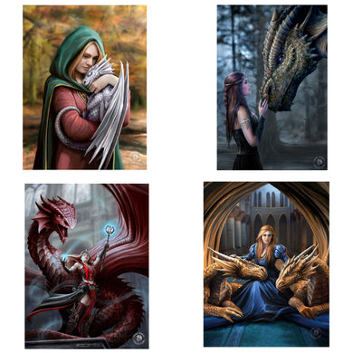 3D Postcard Pack 8 by Anne Stokes