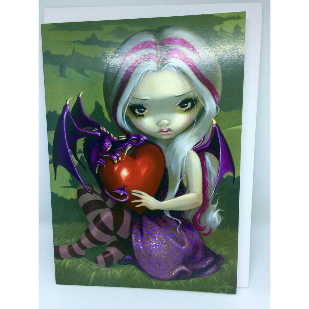 Valentine Dragon Card by Jasmine Becket-Griffith
