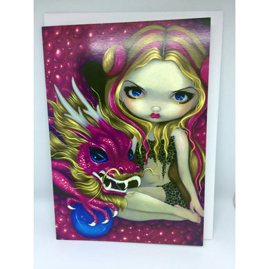 Shimmering Pink Dragon Gift Card by Jasmine Becket-Griffith