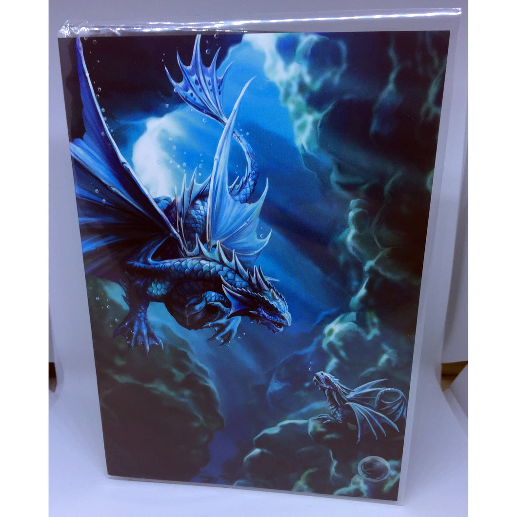 Water Dragon Gift Card by Anne Stokes