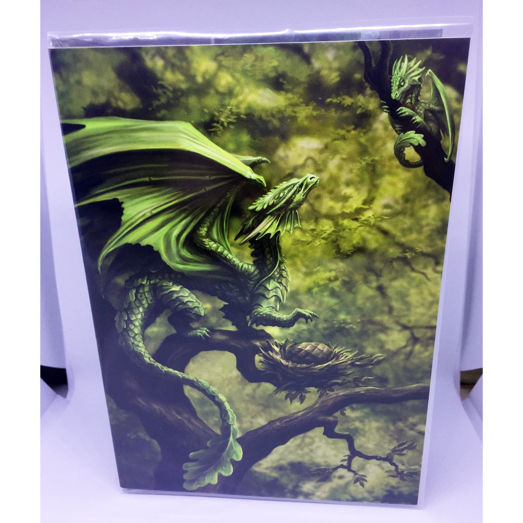 Forest Dragon Card by Anne Stokes