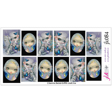 COMBINATION OF STARDUST ANGEL & WINTER BY JASMINE BECKET GRIFFITH Nail Decals