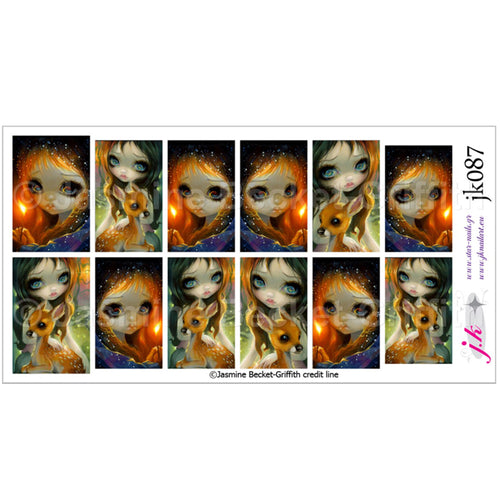 COMBINATION OF THE LITTLE MATCH GIRL & BROTHER AND SISTER BY JASMINE BECKET GRIFFITH Nail Decals