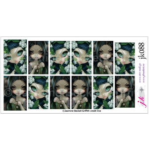 COMBINATION OF POISONOUS BEAUTIES XI LILY OF THE VALLEY & FACES OF FAERY 226 BY JASMINE BECKET GRIFFITH Nail Decals