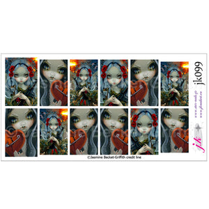 COMBINATION OF FACES OF FAERY 230 & UNSEELIE COURT WAR BY JASMINE BECKET GRIFFITH Nail Decals