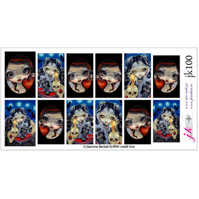 COMBINATION OF SIGN OF OUR PARTING & FACES OF FAERY 225 BY JASMINE BECKET GRIFFITH Nail Decals