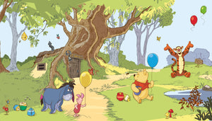Disney Kids Pooh & Friends Prepasted XL Sized Wallpaper Mural