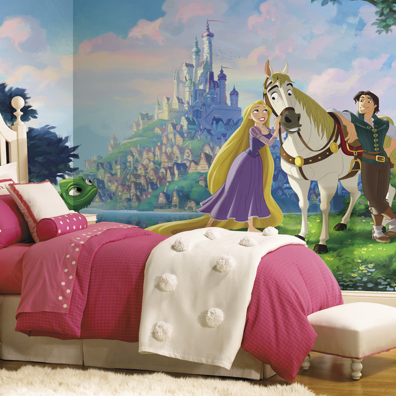 Disney Princess Tangled Prepasted XL Sized Ultra-strippable Wallpaper Mural
