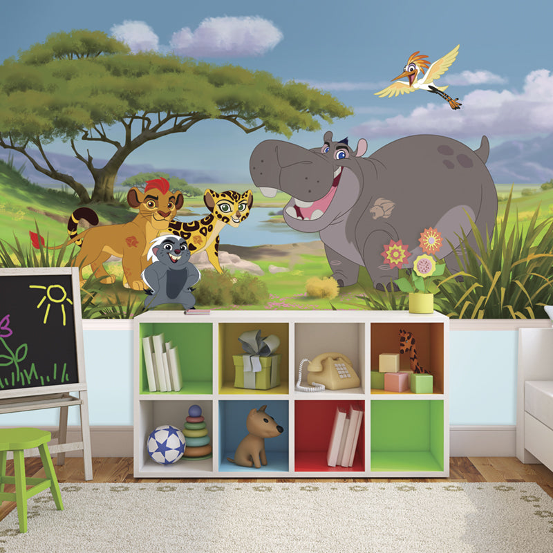 Disney Lion Guard Prepasted XL Sized Ultra-strippable Wallpaper Mural