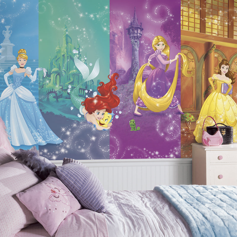 Disney Princess Scenes Prepasted XL Sized Ultra-strippable Wallpaper Mural