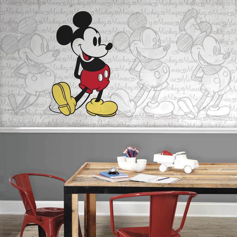 Disney Mickey Mouse - Classic Mickey Prepasted XL Sized Ultra-strippable Wallpaper Mural