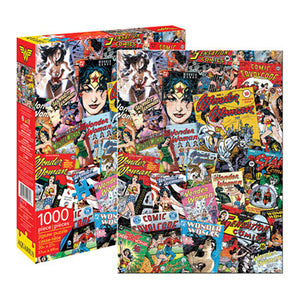DC Comics WonderWoman Retro Collage 1000pc Puzzle