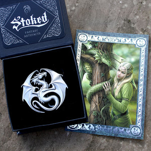 Kindred Spirits Belt Buckle Artefact by Anne Stokes