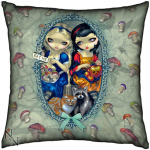 Alice & Snow White Cushion by Jasmine Becket-Griffith