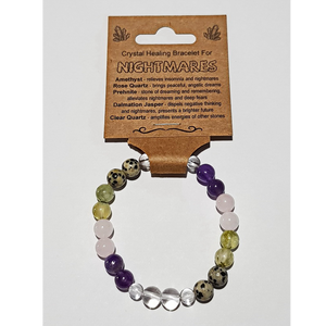 Crystal Healing Bracelet for NIGHTMARES