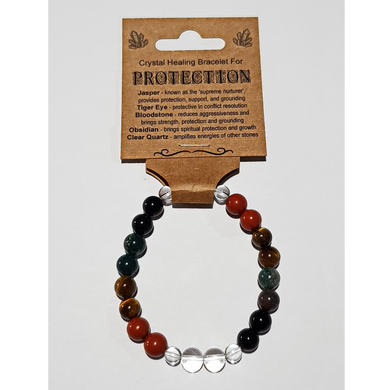 Crystal Healing Bracelet for PROTECTION