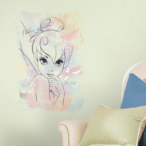 Tink 'I Believe in Fairies' Watercolor Graphic Wall Stickers