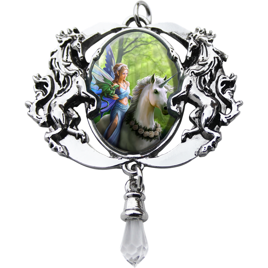 Realm Of Enchantment Cameo Pendant by Anne Stokes