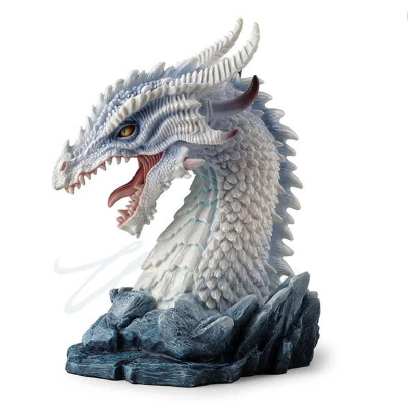 Horned Azure Dragon Bust Premium Figurine