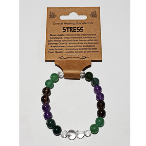 Crystal Healing Bracelet for STRESS