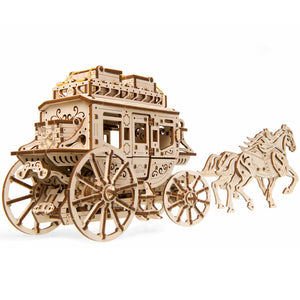 UGears Stagecoach mechanical model