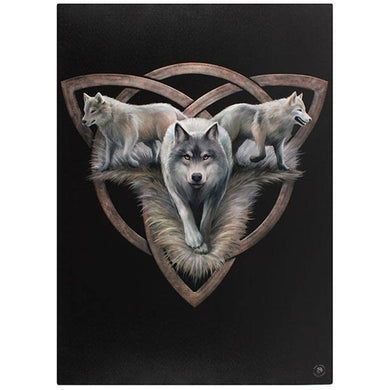 Wolf Trio XLarge Canvas by Anne Stokes