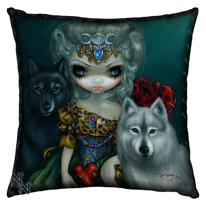 Loup Garou La Grand Pretresse Cushion by Jasmine Becket-Griffith