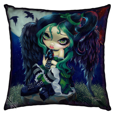 Perched & Sat & Nothing More  Cushion by Jasmine Becket-Griffith